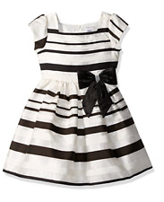 NWT Sweet Heart Rose Little Girls' Organza Stripe Special Occasion Dress size 2T
