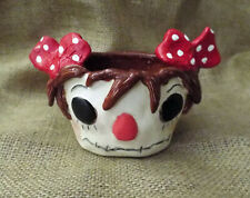 New Vintage Nostalgic Style Raggedy Ann Doll Head Pottery Planter Pot Hand Made