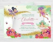 YOU PRINT- Personalised Fairy Butterfly Magical Garden Birthday Party Invitation