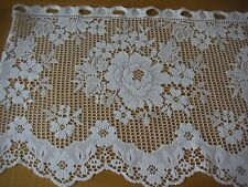 "LACE/NET CURTAINS - 5 YARDS - WHITE - 15"" DEEP - FAB ITEM"