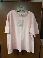 Ladies Pink Short Sleeve St Thomas 100% Cotton Blouse