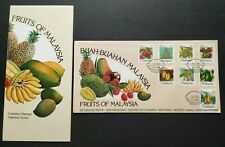 1986 Malaysia National Definitive Issue Fruits 8v Stamps FDC (K/Lumpur postmark)