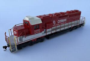 Custom Athearn Ho Scale RJ Corman EMD SD40-2 Diesel Locomotive Train #7117