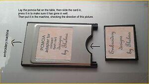 machine embroidery BLANK CARD / ATA PCMCIA ADAPTOR for janome 300e 350e mc9500