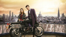 Doctor who matt smith jenna louise coleman Silk Poster/Wallpaper 24 X 13 inches