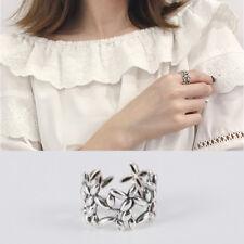 Breiter Damen Ring olivenzweig echt Sterlingsilber 925 Ausgehöhlt antik optik