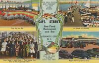 Postcard Capt Starn's Sea Food Restaurant Atlantic City NJ