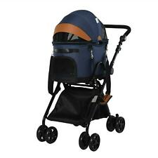 PawHut Luxury Folding Pet Stroller Dog/Cat Travel Carriage 2 In 1 Design With