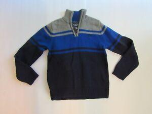 Chaps Ralph Lauren Boys Sweater Size 6 Half Zip Pullover Navy Blue Gray