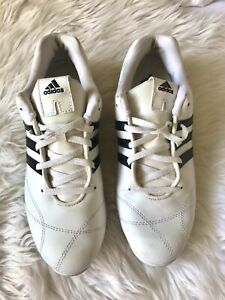 Adidas Womens Ladies White Black Stripes Sneakers Shoes Size US 7.5