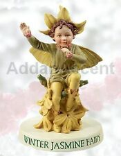 Winter Jasmine Faery Flower Fairy Ornament On Base Cicely Mary Barker figurine