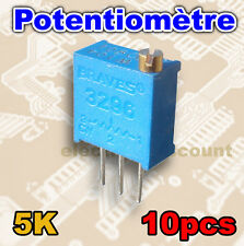 1526-5K/10# Potentiomètre multi-tours 5K ohms 10pcs