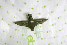 Vintage Military Airborne Paratrooper Jump Wings Pin United Kingdom Crown Lion