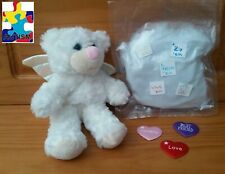 "White Angel Bear ""Abby"" Build A Buddy Stuffed Animal Teddy Mountain"