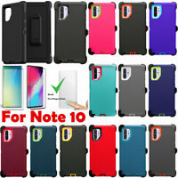 For Samsung Galaxy Note 10 Defender Case Cover W/Screen Belt Clip Fits Otterbox