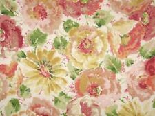 Mill Creek Floral DAISY Flowers Spring Colors Home Decor Cotton Drapery Fabric