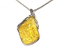 Bijou lucite et alliage argenté collier pendentif lucite necklace