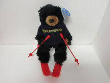 1988 Purr-Fection by Mjc, Black Snowshoe Bear On Red Skis, Tagged (50217)