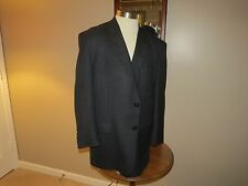 Jos A Bank Blue & Black Plaid Blazer 46S Fully Lined 100% Wool 2 Button