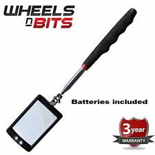 NEW WNB Telescopic Inspection Stick Mirror Bright LEDs Light Extends 29-87cm Car