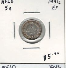 Canada Newfoundland 1941c 5 Cent Silver EF