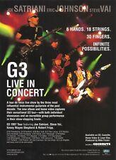 Joe Satriani Eric Johnson Steve Vai G3 Live In Concert 1997 8x11 Promo Poster Ad