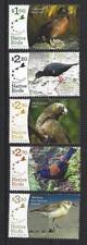 NEW ZEALAND 2017 RECOVERING NATIVE BIRDS SET 5 UNMOUNTED MINT, MNH