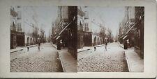Ville à identifier Photo Stereo Amateur Snapshot n21 Vintage Citrate c1900