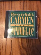 Where in the World is Carmen Sandiego? Deluxe ~ PC CD Rom Game ~RARE