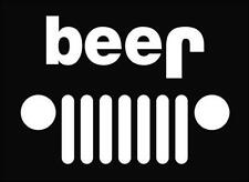BEER funny window sticker vinyl decal for Jeep Wrangler Cherokee CJ YJ #199