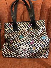 Vintage Nicole Miller Tote Bag With Interesting Graphic Design.