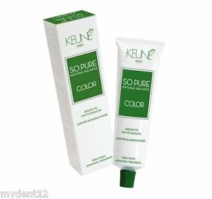 Keune So Pure Hair Color 60ml - 100% Ammonia & Paraben Free Hair Coulor