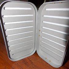 Aluminum Fly fishing box Silver in color Split Foam Inside Brand New