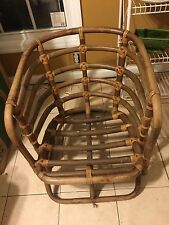 Horseshoe Style Bent Bamboo Chair Art Deco 1950s