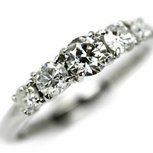 Pt900 Diamond Ring 0308ct K SI1 EX D0.52ct SELBY_JAPAN