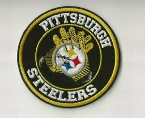 NEW 3 1/2 INCH PITTSBURGH STEELERS GLOVES IRON ON PATCH FREE SHIP P1