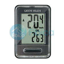 New CATEYE VELO 9 Digital CC-VL820 Cycle Computer Speedometer Black