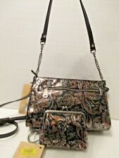 Patricia Nash Tri-Metallic Leather Turati Convertible Crossbody Borse Coin Purse
