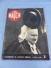 Revue MATCH du 6 avril 1939 ALBERT LEBRUN ville DANTZIG OUARZAZAT EL GLAOUI
