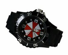 RESIDENT EVIL UMBRELLA Symbol Black Silicone Band WRIST WATCH