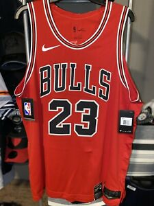 Chicago Bulls Nike Authentic Michael Jordan Icon Jersey Size 52