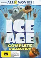Ice Age Complete Collection All 5 Movies BRAND NEW Region 4 DVD 1 2 3 4 5GENUINE