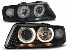 HEADLIGHTS LHD / RHD LPAU22 AUDI A3 2000 2001 2002 2003 ANGEL EYES BLACK
