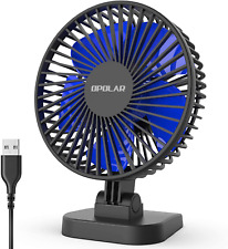 OPOLAR USB Desk Fan Home Office Table Portable Mini Quiet Personal Air Cooling