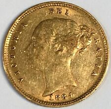 1884 Great Britain Half Sovereign Gold Coin - High Quality Scans #C876