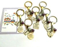 Teacher Thank You Gift & General Thank you Gifts KeyRing choice of Design