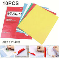 10 Sheets Transfer Paper Carbon Water-Soluble Tracing Paper for Fabric