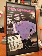 """BIG 11X17 FRAMED RIC OCASEK (THE CARS) """"BEATITUDE"""" LP ALBUM CD PROMO AD + bonus!"""