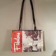 Fabulous Las Vegas 1958 Vintage Magazine Cover Handbag Purse