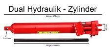 Hydraulik Zylinder 8 t Hub 495 mm Doppelpumpe und Hubstange Ersatzteil Kran